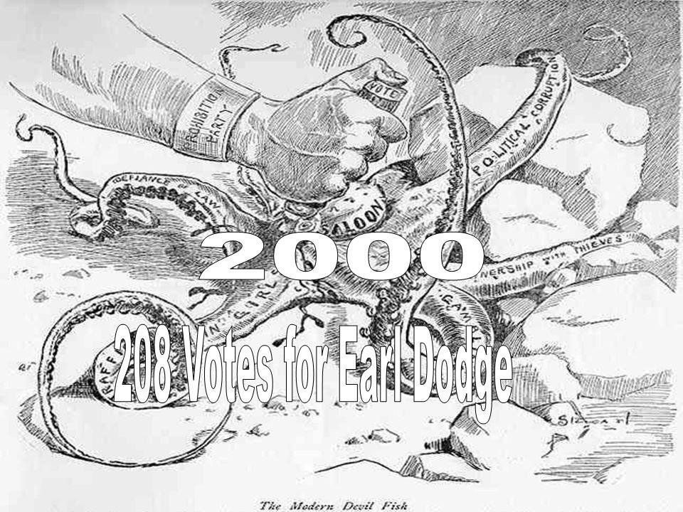 2000 208 Votes for Earl Dodge