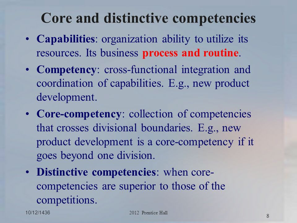 core competencies and capabilities of fedex 2013-02-14 in a world of rapid disruption, the idea of having a core competency–an intrinsic set of skills required to thrive.