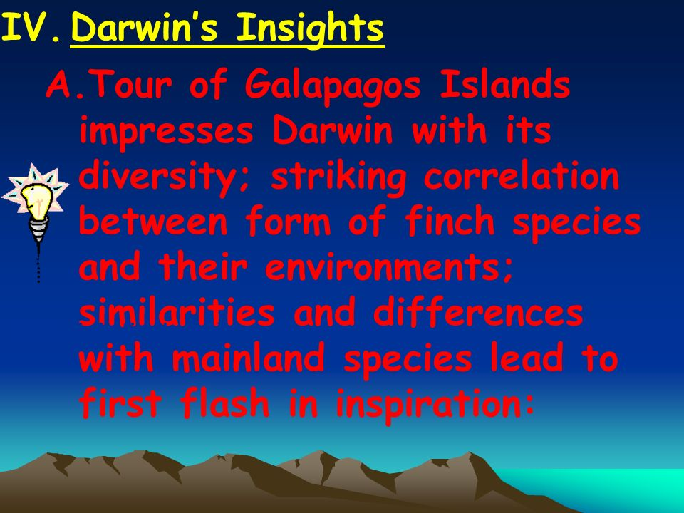 IV. Darwin's Insights