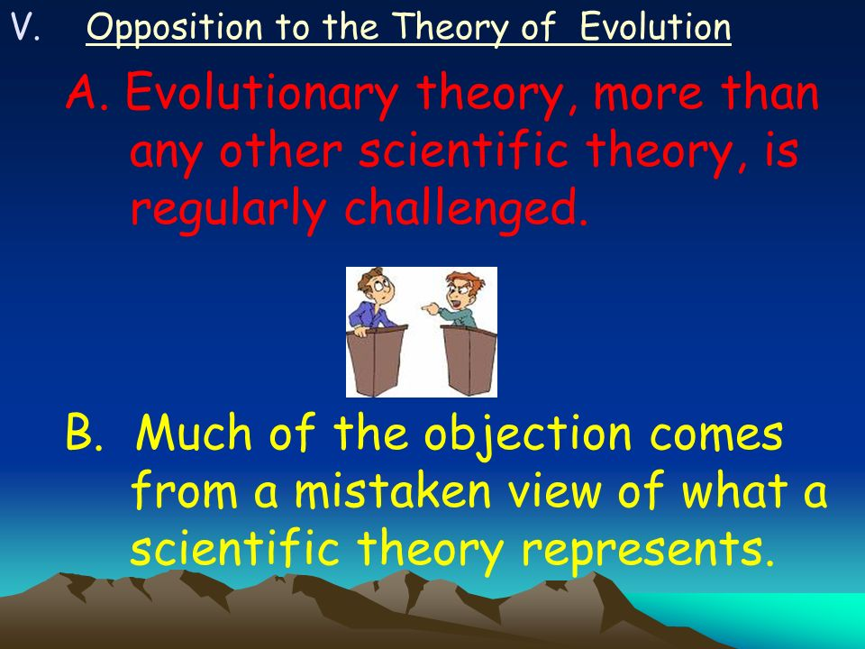Opposition to the Theory of Evolution