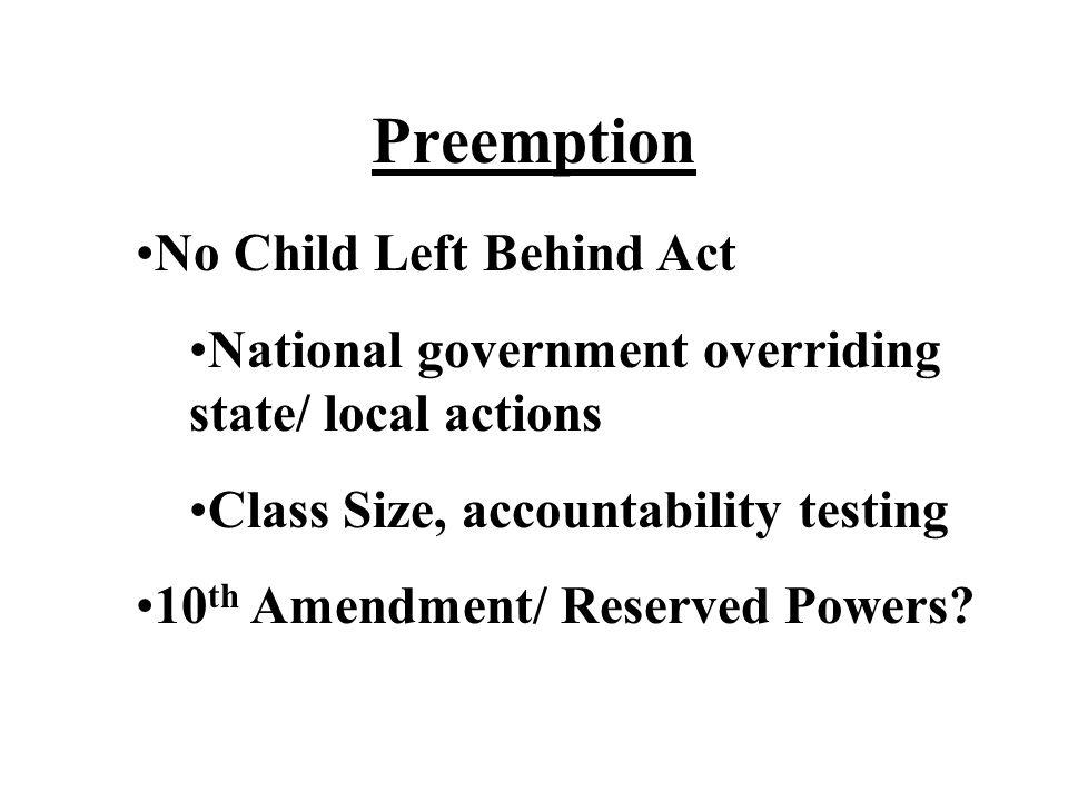Preemption No Child Left Behind Act