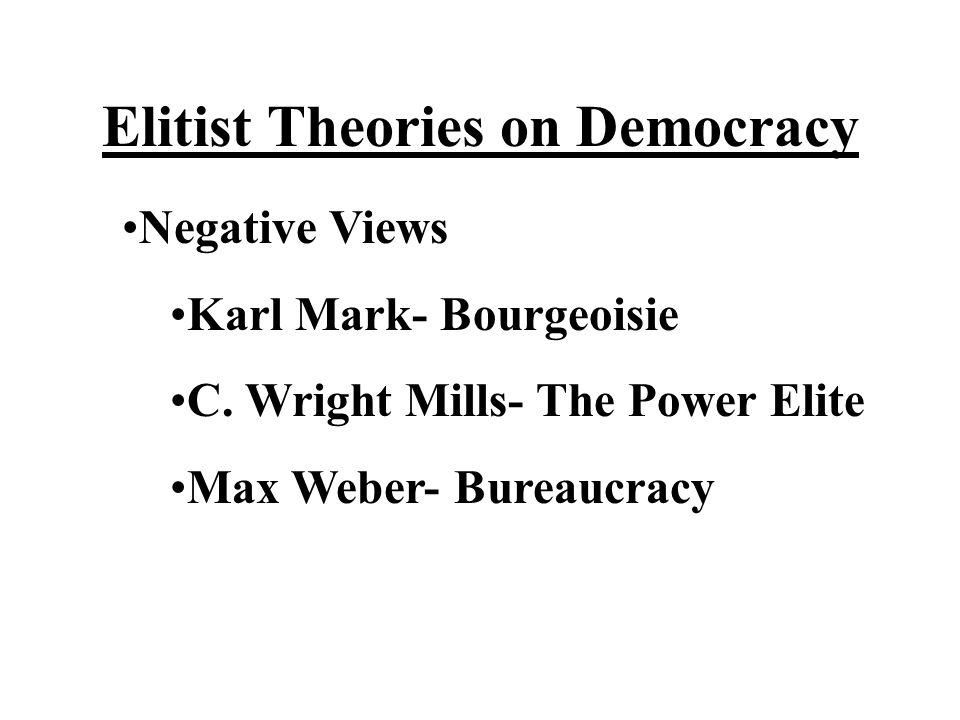 Elitist Theories on Democracy