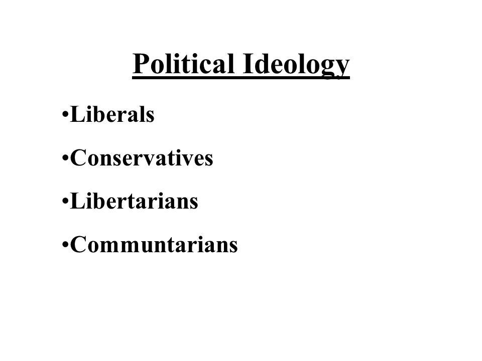 Political Ideology Liberals Conservatives Libertarians Communtarians