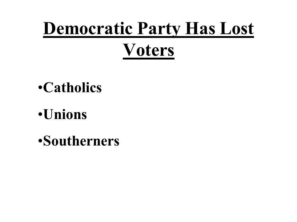 Democratic Party Has Lost Voters