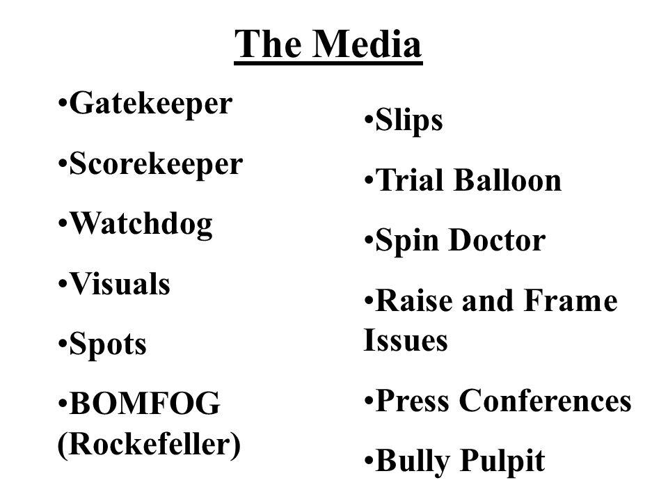 The Media Gatekeeper Slips Scorekeeper Trial Balloon Watchdog