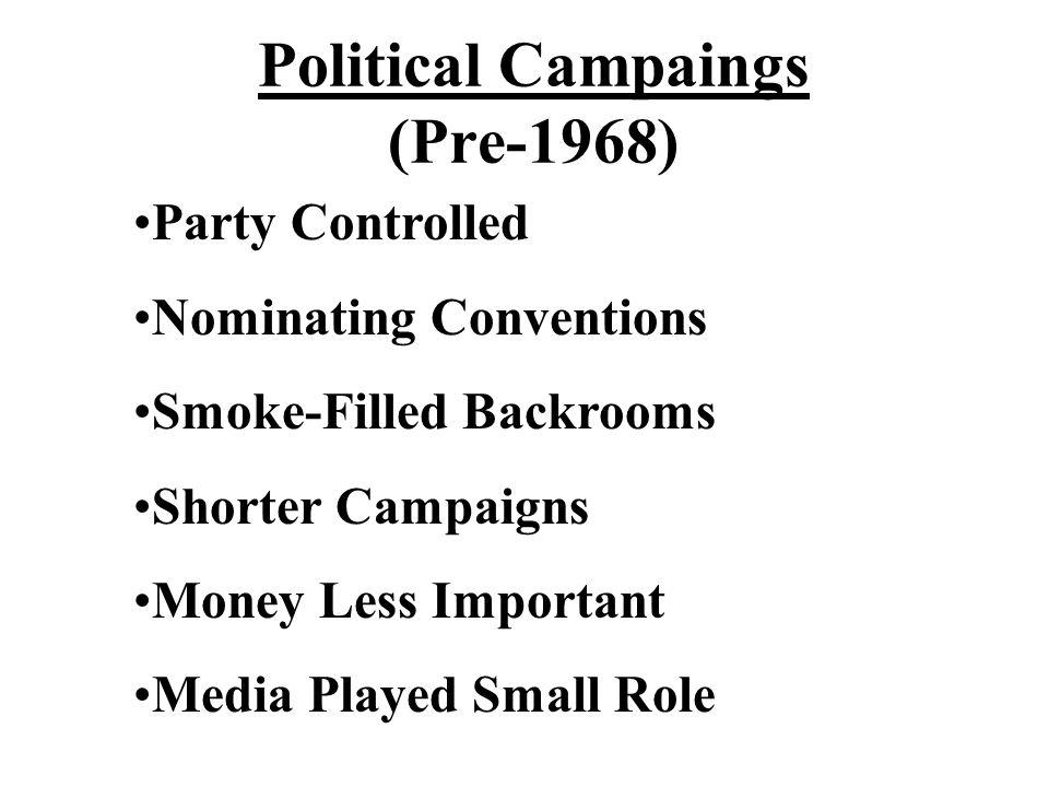 Political Campaings (Pre-1968)