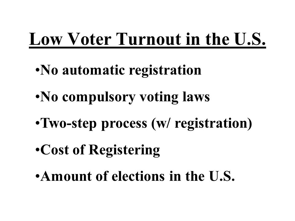 Low Voter Turnout in the U.S.