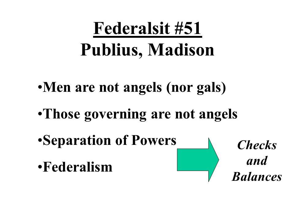 Federalsit #51 Publius, Madison