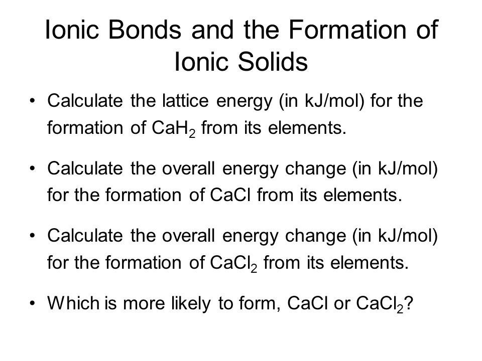 how to find elements in kj mol