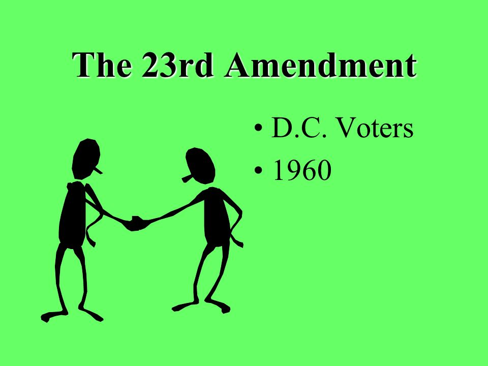 The 23rd Amendment D.C. Voters 1960