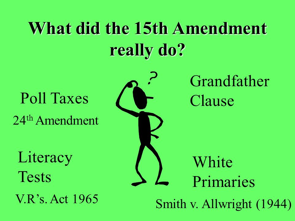 What did the 15th Amendment really do