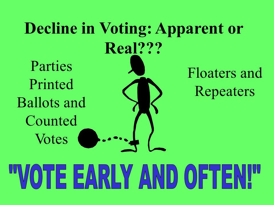 Decline in Voting: Apparent or Real