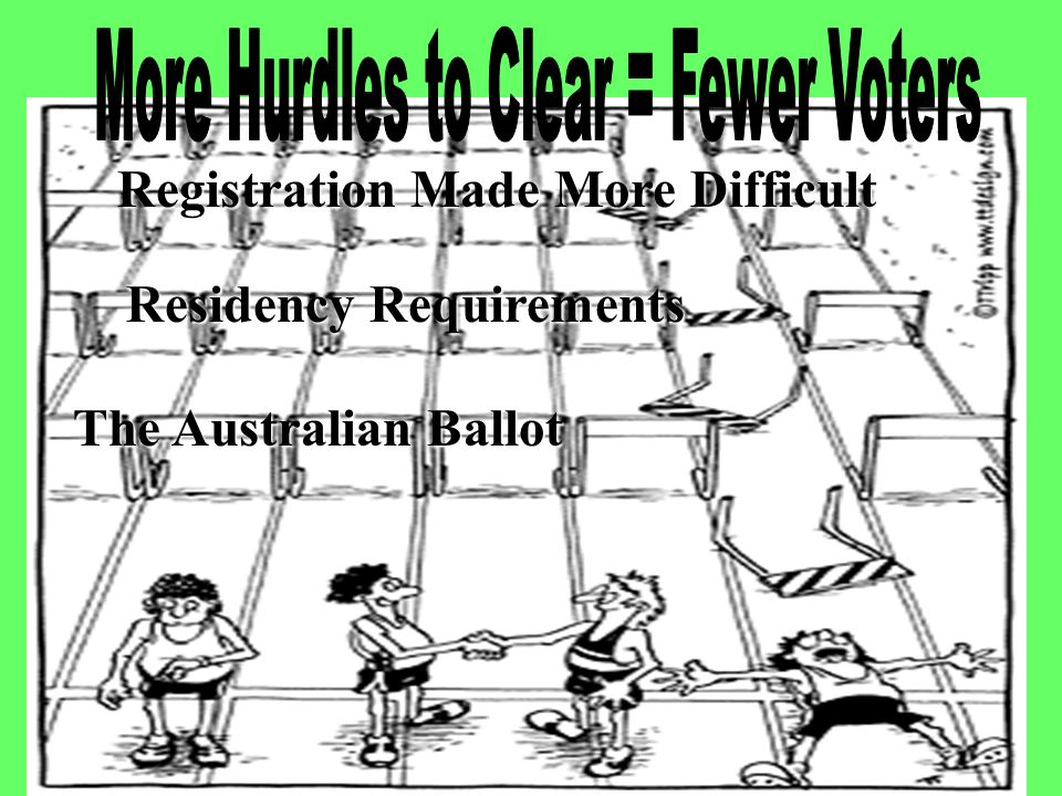 More Hurdles to Clear = Fewer Voters