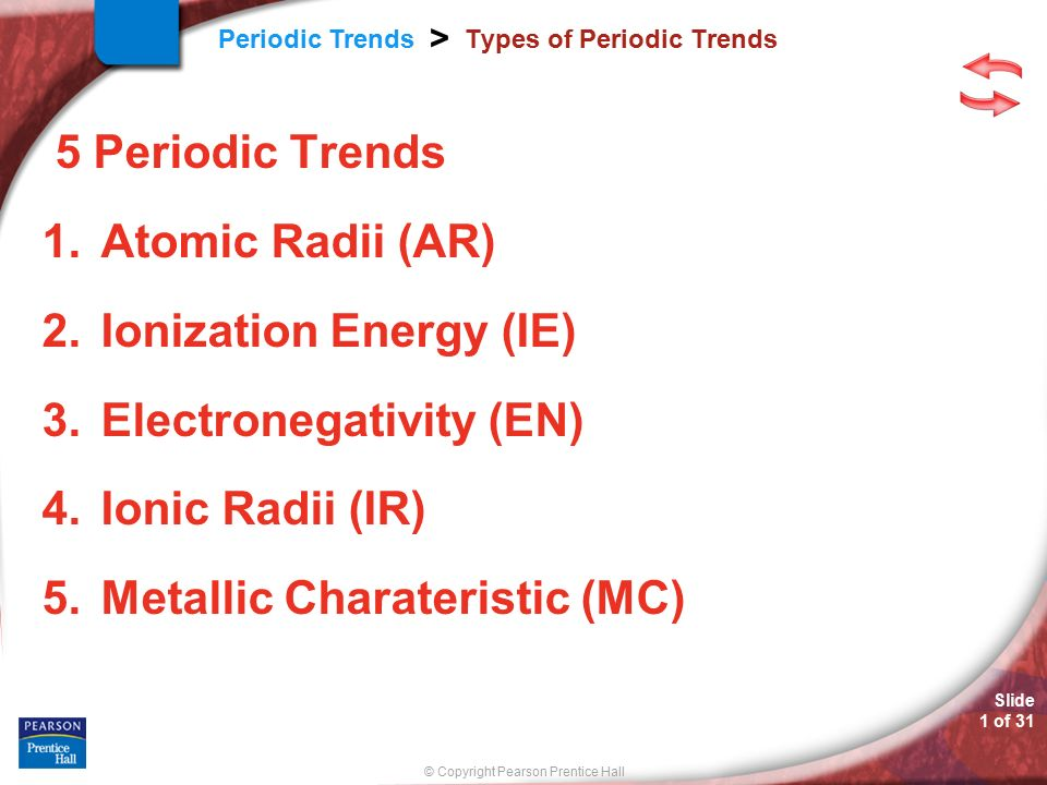 Types of periodic trends ppt video online download types of periodic trends urtaz Image collections