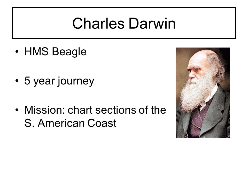 Charles Darwin HMS Beagle 5 year journey
