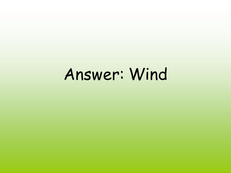 Answer: Wind