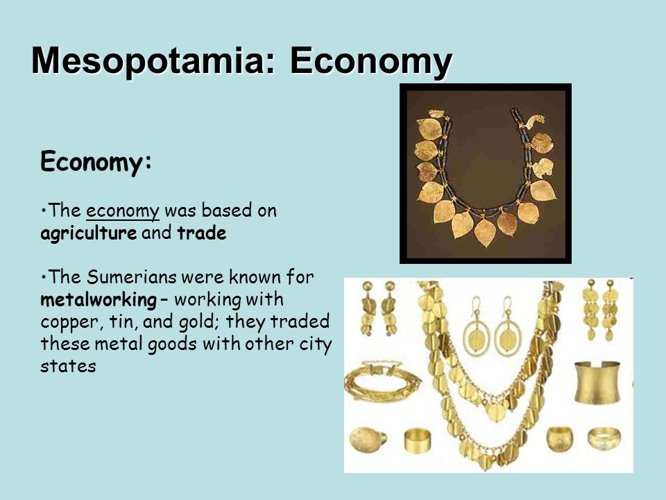 Mesopotamian trade and money system