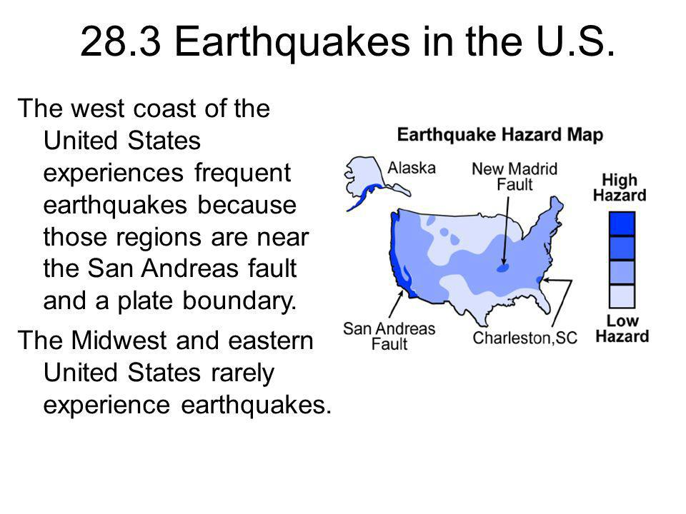 28.3 Earthquakes in the U.S.
