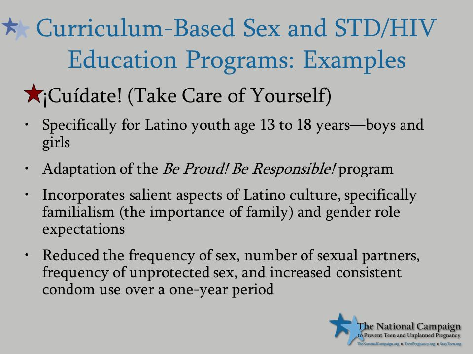 Be proud be responsible sex curriculum