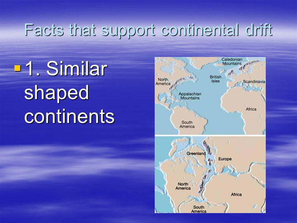 Facts that support continental drift