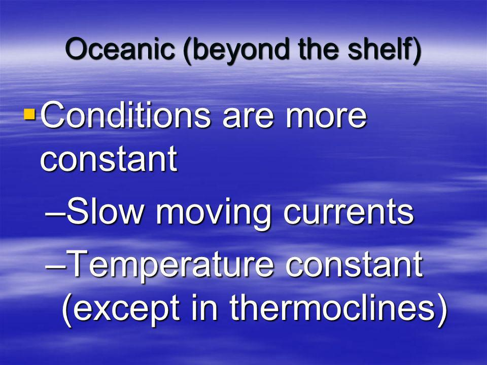 Oceanic (beyond the shelf)