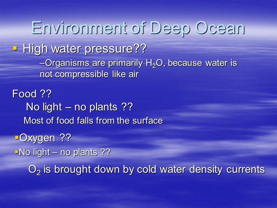 Environment of Deep Ocean