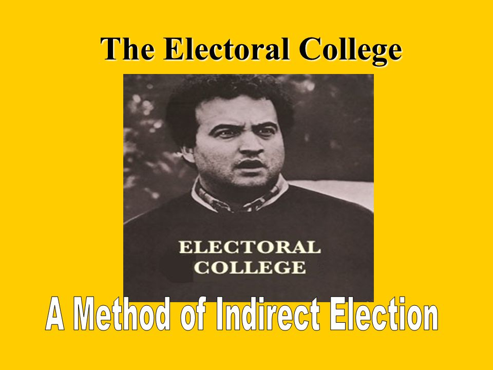 A Method of Indirect Election