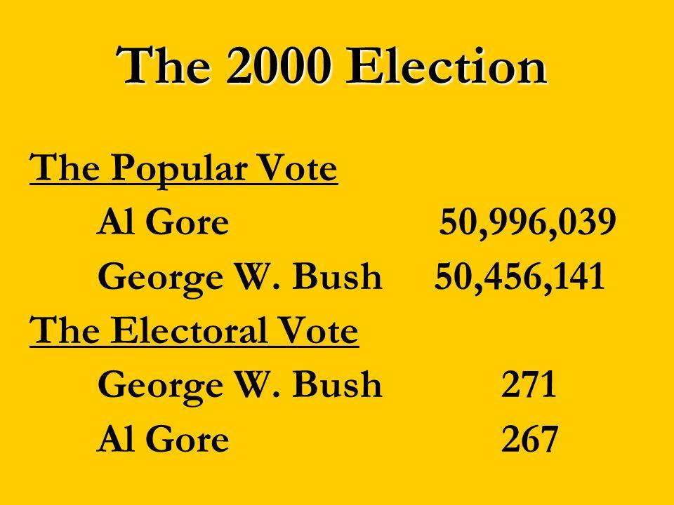 The 2000 Election The Popular Vote Al Gore 50,996,039