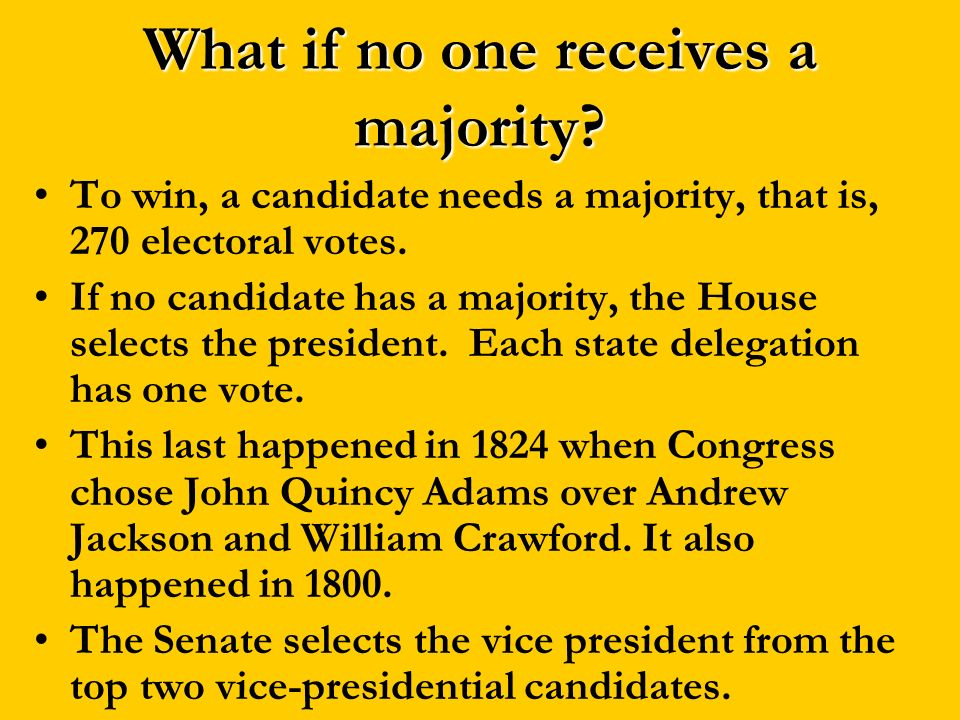 What if no one receives a majority