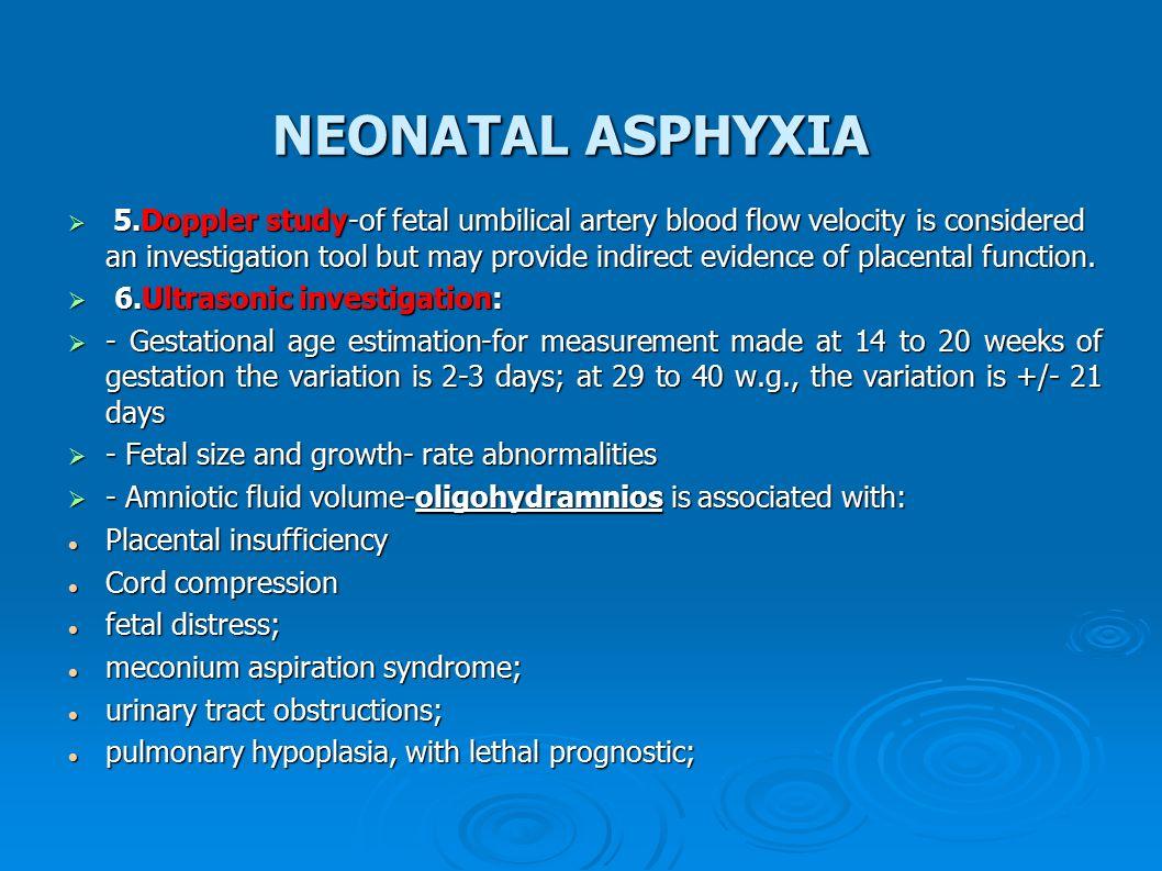 NEONATAL ASPHYXIA Prof. Maria Stamatin MD,PhD