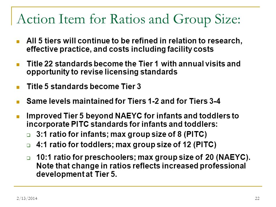Action Item for Ratios and Group Size: