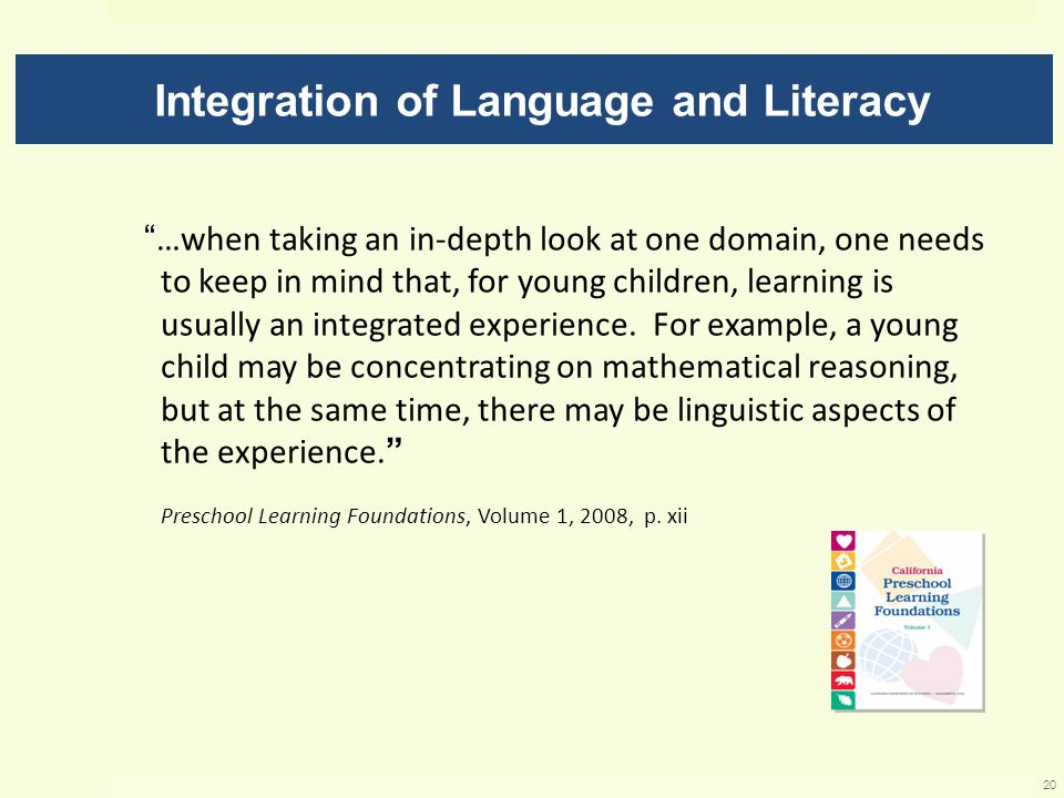 Integration of Language and Literacy
