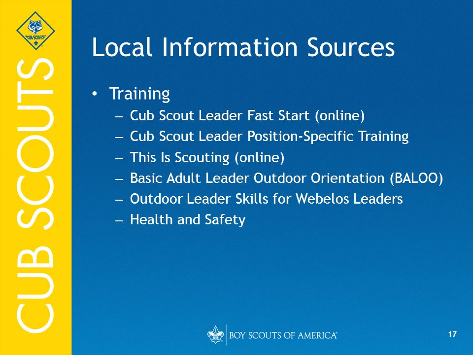 Local Information Sources