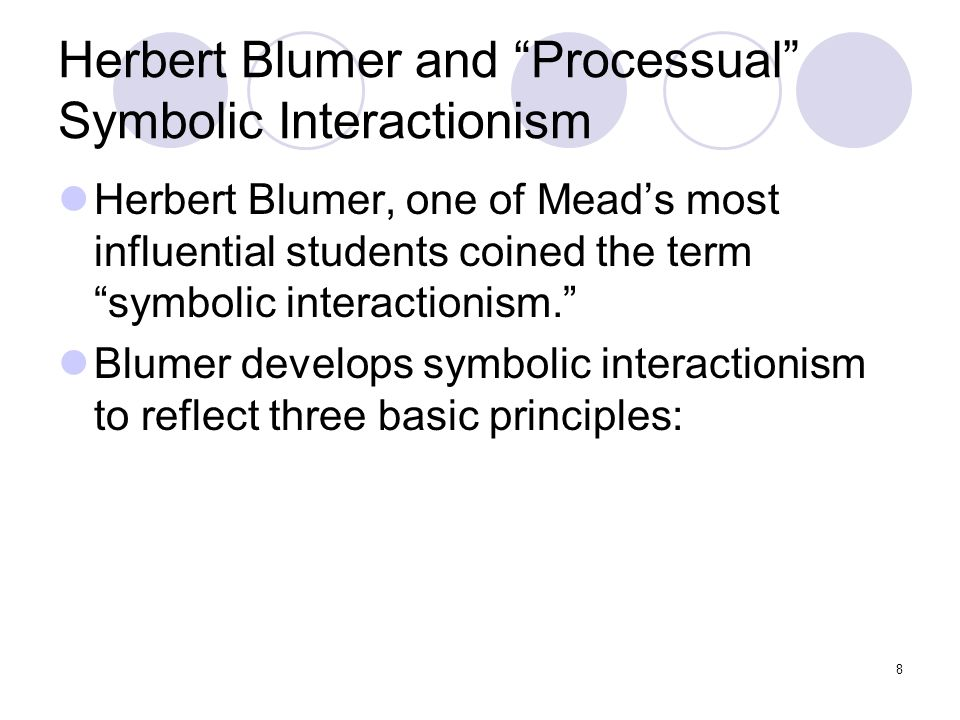 blumer and symbolic interactionism