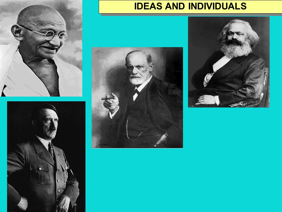 IDEAS AND INDIVIDUALS