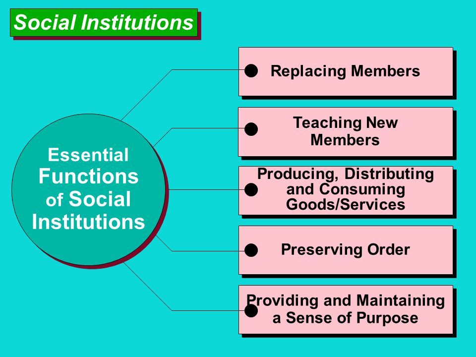 Functions Institutions