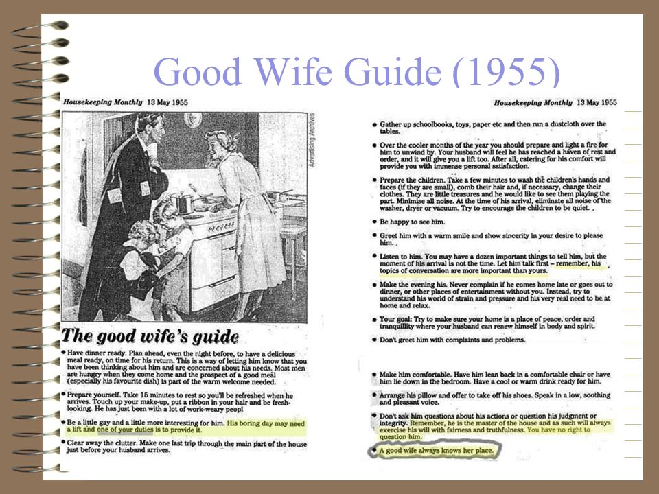 how to become a good housewife