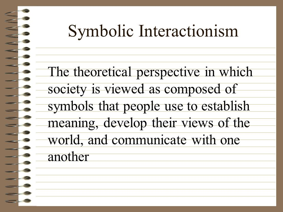 Symbolic Interactionism Functional Analysis Conflict Theory Custom