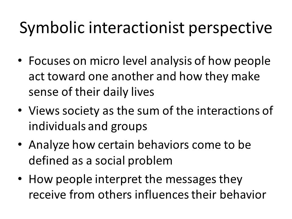 symbolic interactionist perspective media analysis Download citation on researchgate | symbolic interactionism and the media | the merger of three streams of thought into a unified perspective on information technologies and social structure defines the pragmatic, interactionist contribution to the study of the media this merger, which synthesizes the theories of simmel, mead, innis, ong, and.