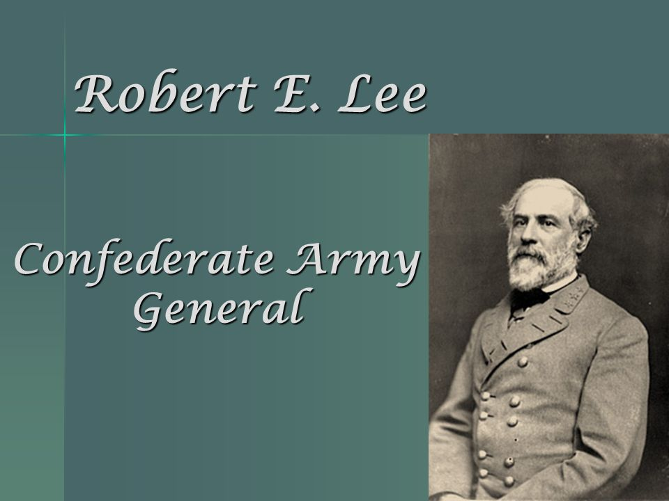 Confederate Army General