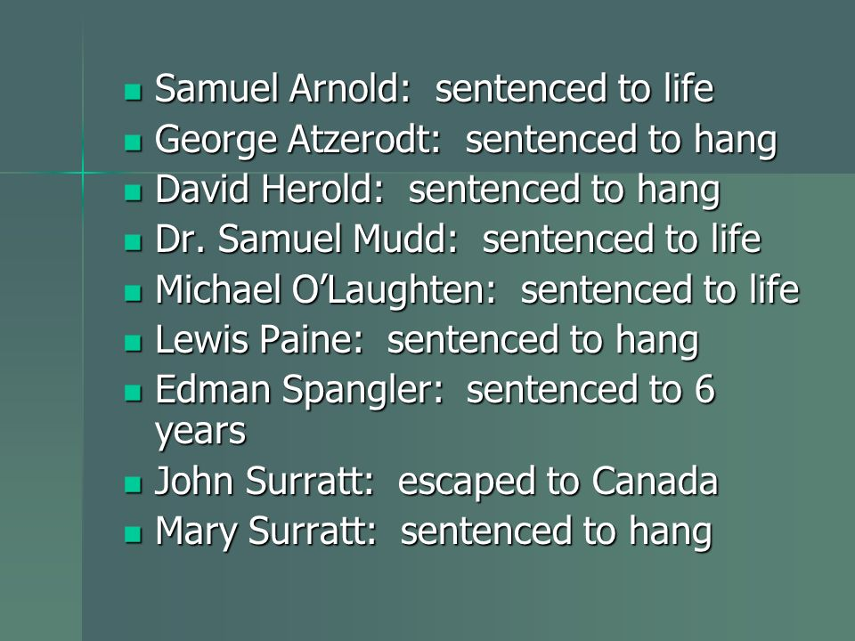 Samuel Arnold: sentenced to life