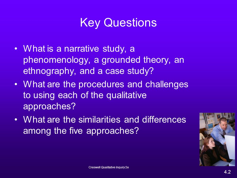 qualitative approach to inquiry research and theory While there are a plethora of qualitative research methods that individuals must consider when designing research using grounded theory as a method of inquiry.