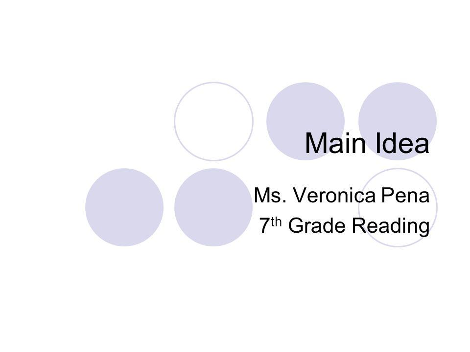 Ms. Veronica Pena 7th Grade Reading