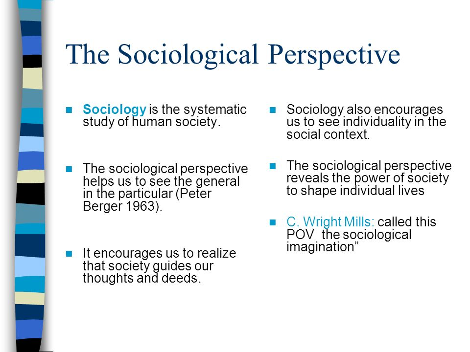 sociological views The major theoretical perspectives of sociology  the field of sociology itself i s a theoretical perspective based on the assumption that social.