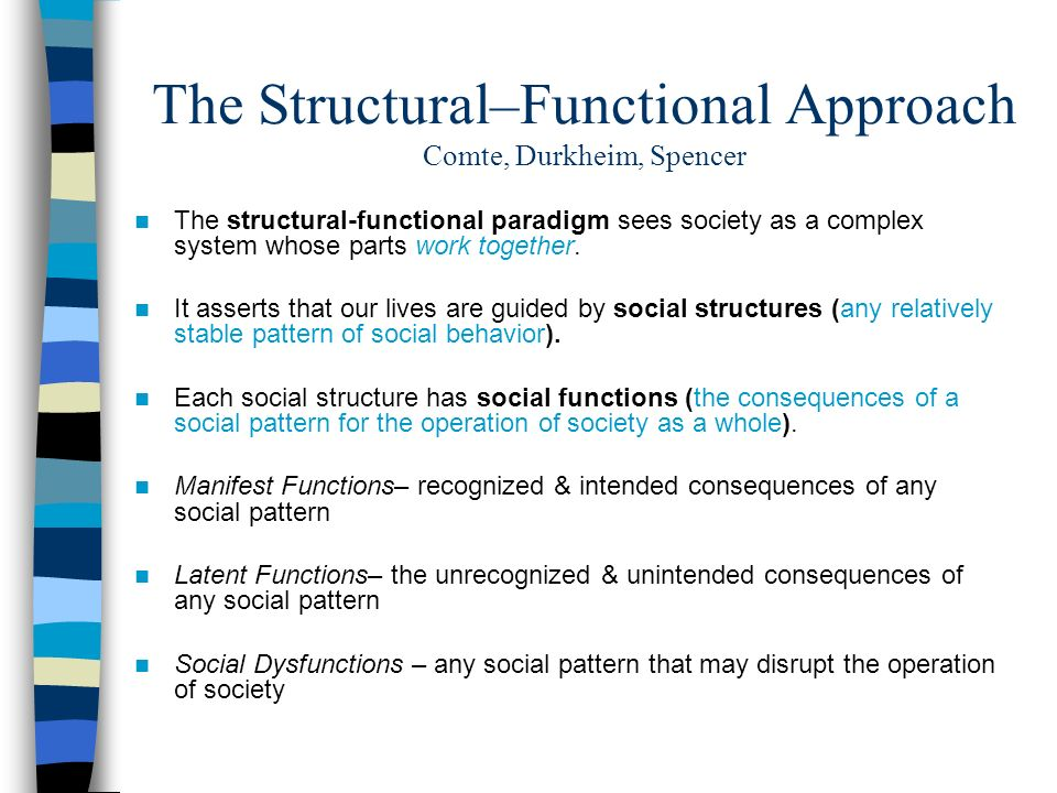 structural functional approach paradigm Structural functionalism of media  his functional analysis detailed how the study of social  4_study on the current trends and approach to media literacy in.