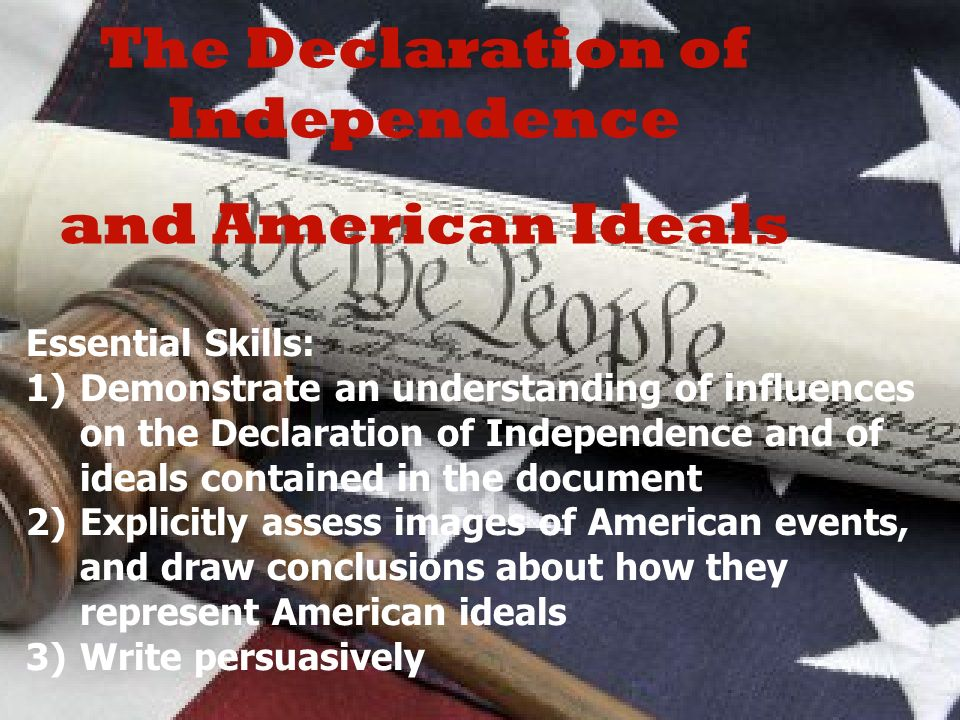 the influences on the declaration of Thomas jefferson wrote the declaration of independence in 1776.