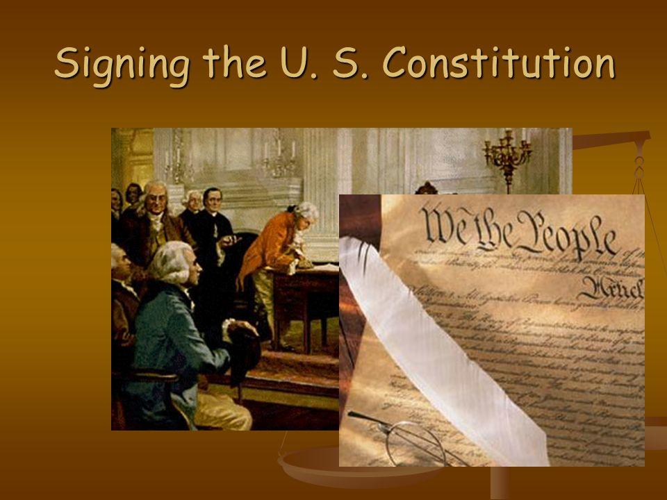 Signing the U. S. Constitution