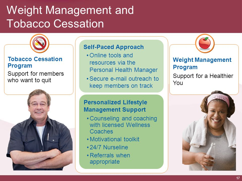 Weight Management and Tobacco Cessation