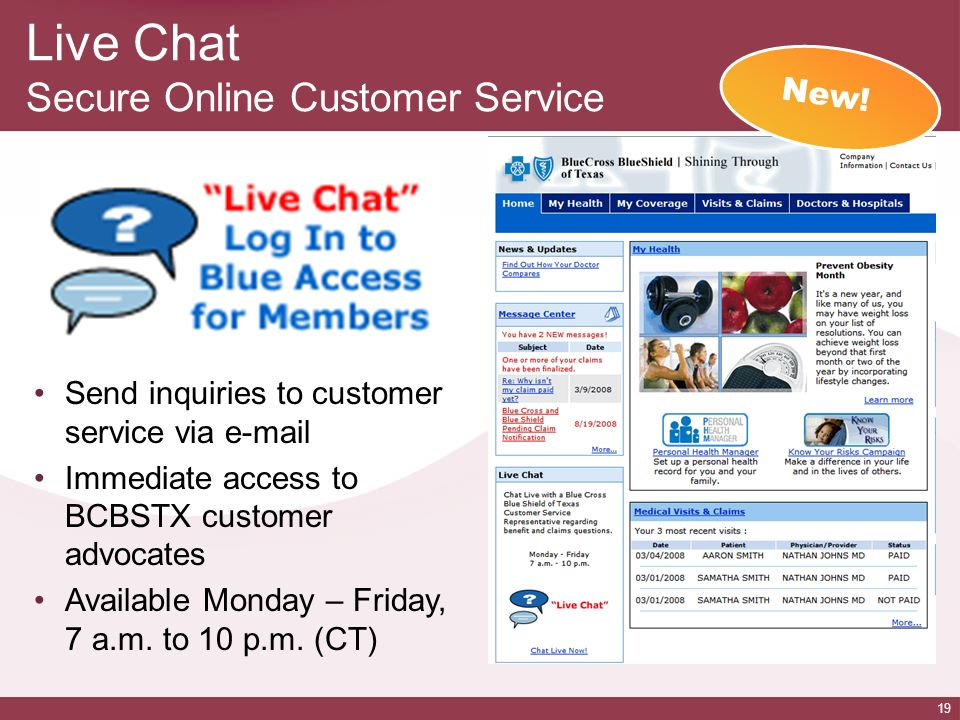 Live Chat Secure Online Customer Service