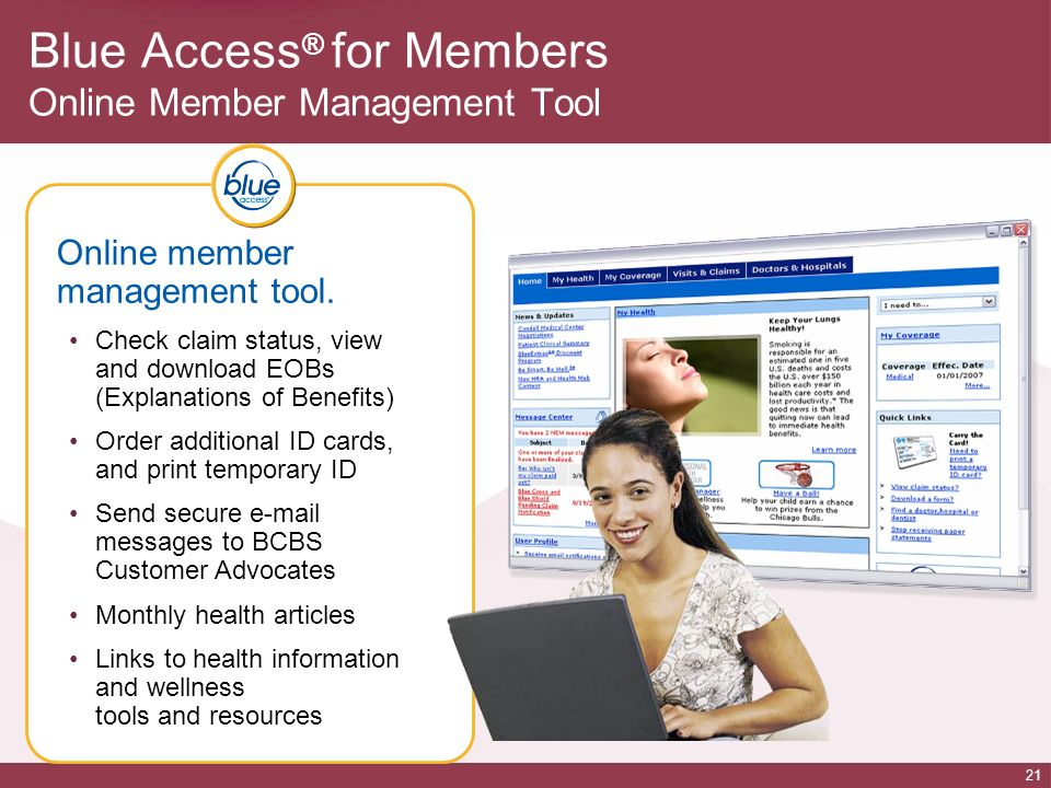 Blue Access® for Members Online Member Management Tool